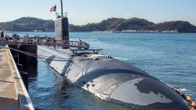 The USS Topeka during a recent visit to Yokosuka, Japan.