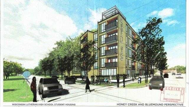 A five-story, market-rate apartment building and a separate three-story student apartment building are being proposed for Milwaukee's west side.