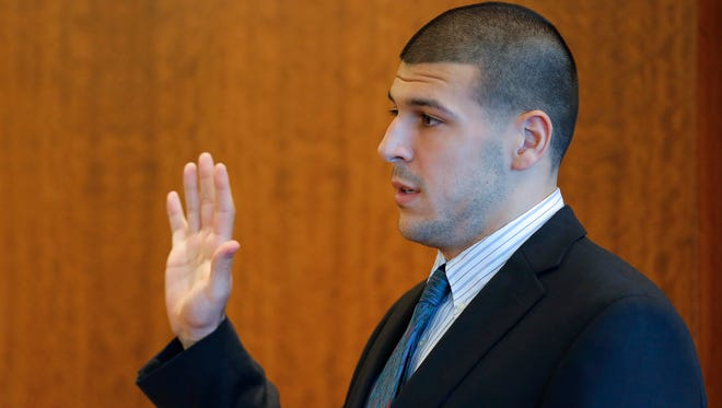 Former Patriots tight end has pleaded not guilty to murder chargers in Massachusetts.