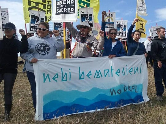 Jewel Deschamps-Gopher said the atmosphere was peaceful when she visited Standing Rock. People from all over the world gathered to share their culture and help stand in protest of the Dakota Access Pipeline.