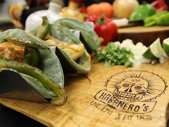 Fajita-style tacos at Habanero's.