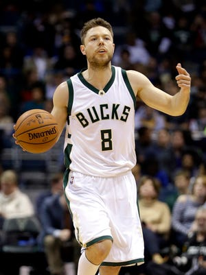 Matthew Dellavedova signed a four-year, $38 million contract with the Bucks as a free agent in July. He spent his first three NBA seasons with the Cavaliers.