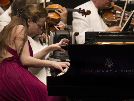 Finalist Marianna Prjevalskaya performs during the