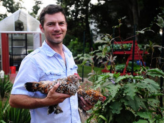 Marcus Descant, The Urban Naturalist shown in this 2012 file photo, is planning a new edible community park near downtown Lafayette, LA.
