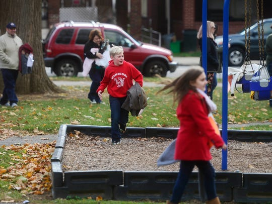 Just because the weather's cold doesn't mean kids can't enjoy local parks and playgrounds.