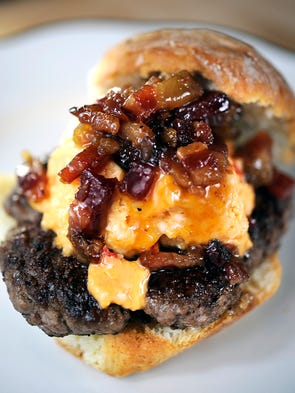 Wash Park is a Bear Creek Farms beef burger on biscuit
