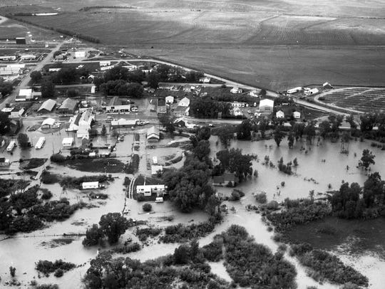 Flooding in Great Falls in 1975.
