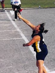Kim Adams was a four-year NCCAA All-American in women's track and field at Spring Arbor University.