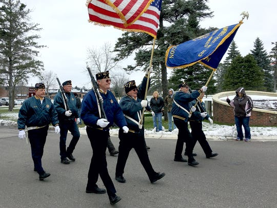Veterans from the Clearwater American Legion Post 323