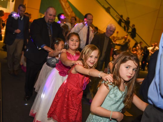 The locomotion dance at the Father Daughter Dance held