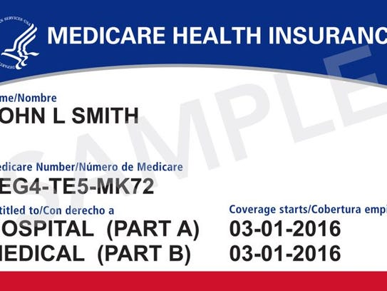 A sample of a new Medicare card that is expected to
