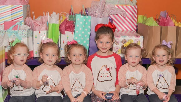 "Adam and Danielle Busby of TLC's ""OutDaughtered"" threw their quintuplets a poop-themed third birthday. The theme was their older sister Blayke's idea."