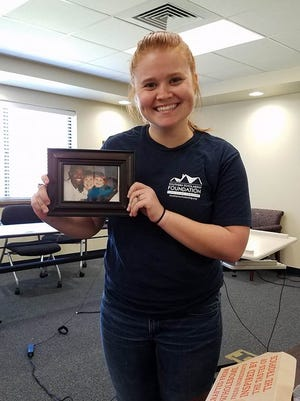 Emily Lee, a part-time SSF employee and full time resident, with her Show & Tell item