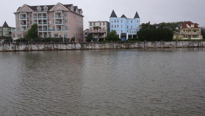 Ocean Grove buildings overlook Wesley Lake