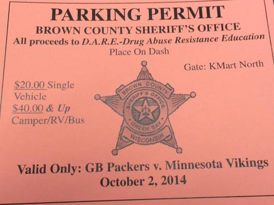 Brown County authorities say parking passes like these were copied and sold, but the money wasn't turned in.