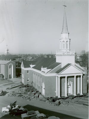 Not a brick or window was lost in 1958-59 when Salem's First Presbyterian Church was moved from the northeast corner of the intersection of Chemeketa and Court streets NE to the southwest corner.