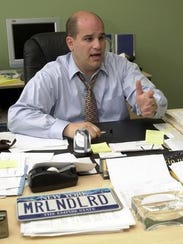 Joseph Spiezio, a supporter of Mount Vernon Mayor Richard