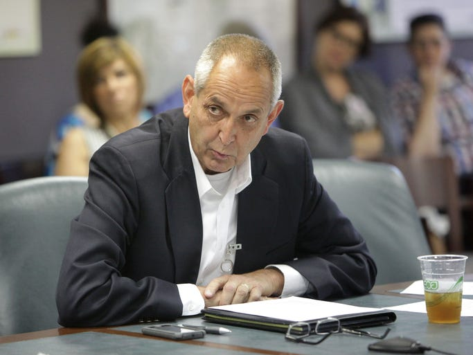 Dick Hardy, member of the Sexual Orientation and Gender Identity Task Force, speaks at a meeting with Springfield City CouncilÕs Community Involvement Committee on Monday, June 30, 2014.