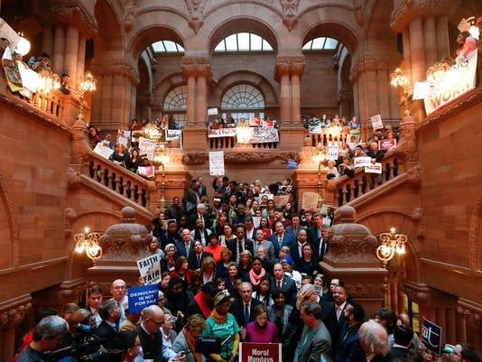 NY Capitol education rally