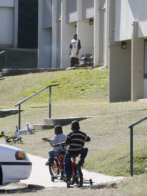 Residents enjoy a warm day at the Springfield Complex at 1700 Joe Lewis St. January 6, 2008.  Springfield is one of four housing complexes run by the Tallahassee Housing Authority.