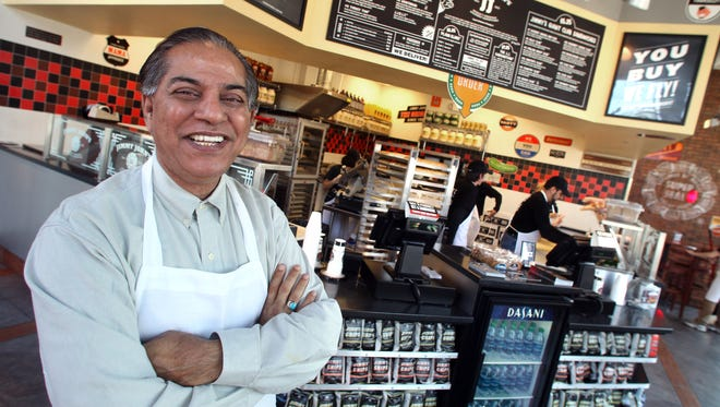 S.Ahmed Merchant owns 28 Jimmy John's franchises in the Des Moines metro. The latest restaurant opened Thursday in Clive.