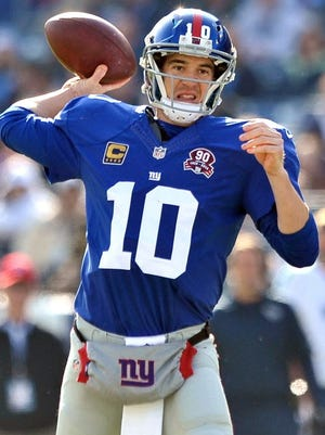 New York Giants quarterback Eli Manning says he is not worried about a new contract.