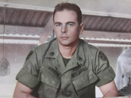 Richard Budrow is pictured at Chu Lai.