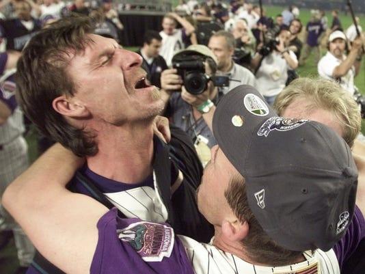 World Series  Dbacks  Yankees  2001 Randy Johnson