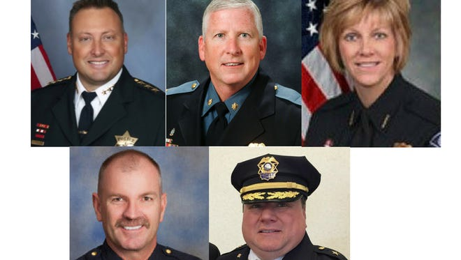 The five candidates for Fort Collins police chief.