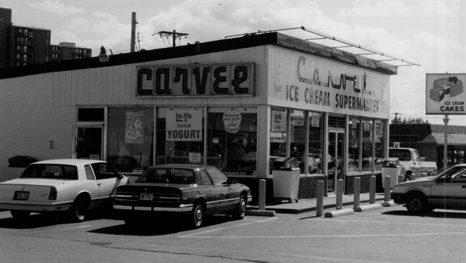 One of the most successful local Carvel franchises, at East Ridge Road and Hudson Avenue in Irondequoit, was owned by Walter Silverman of Brighton. This is how it appeared in the late 1970s/early 1980s.