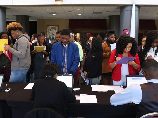 Over 900 students looking to attend a historically black college or university came to the Joseph A. Floreano Rochester Riverside Convention Center for the a college fair and the United Negro College Fund's Empower Me Tour.  The one day event had workshops and a college fair where students could get information about the college as well as get accepted on the spot to the school.