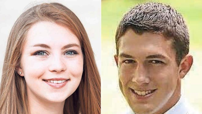 Courtney Raatz and Dylan Schulz of Kaukauna High School are this week's top scholars.