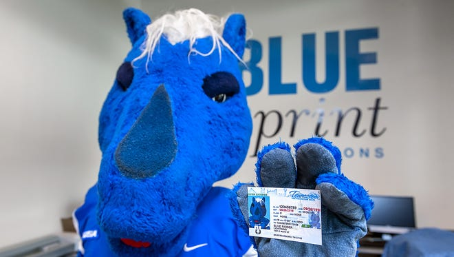 Lightning with his license.
