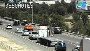Northbound traffic backs up on Interstate 5 near Deschutes Road in Anderson after a multi-vehicle collision.