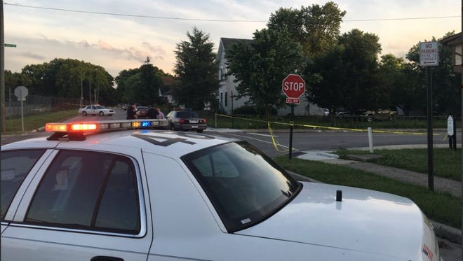 Indianapolis Metropolitan Police are investigating after a young man was found shot dead in an alley near 20th and Olney streets on the city's east side on June 13, 2018.