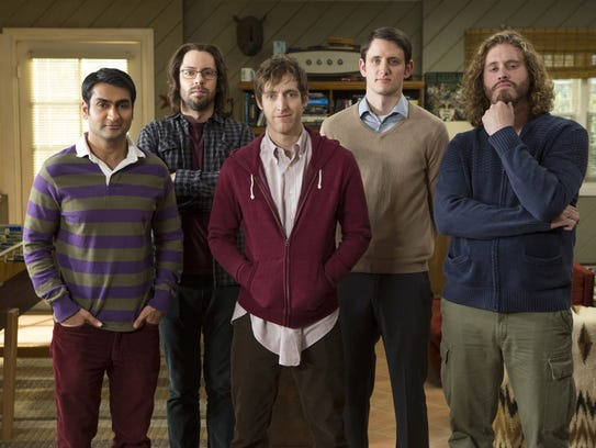 "The frazzled entrepreneurs of  HBO's ""Silicon Valley."""