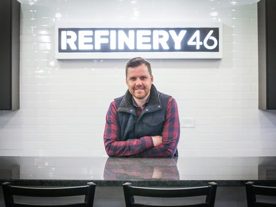 Co-founder of Refinery 46, Brian Schutt stands in the