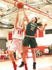 Canton's Ashley Criscenti (11), who had 20 points and