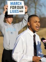 Marvell Reed, a sophomore at Barack Obama School of