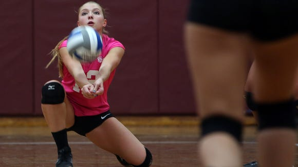 Scarsdale swept Ursuline, 25-20, 25-16, and 25-23 in volleyball action at Scarsdale High School Oct. 20, 2015.
