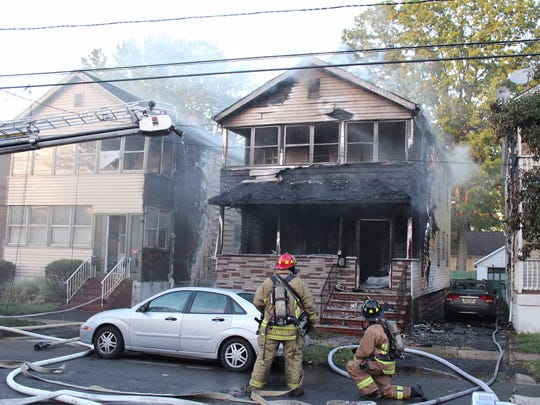Linden firefighters responded to a house fire Friday evening.