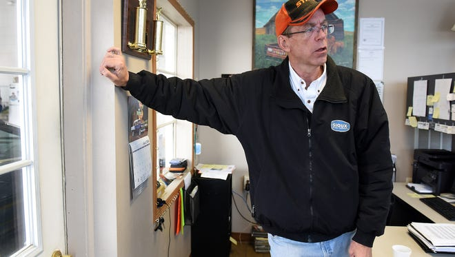 Dan Iseminger, owner of Honest Dan's Good Used Cars, talks about recent vandalism at the dealership along 12th Street in Sioux Falls on Friday, April 29, 2016.