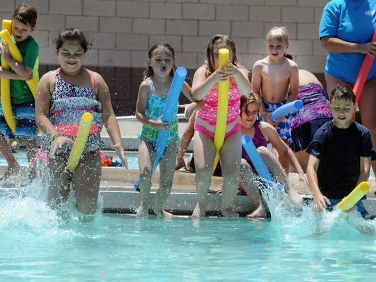 Buncombe County pools are available for party rentals.
