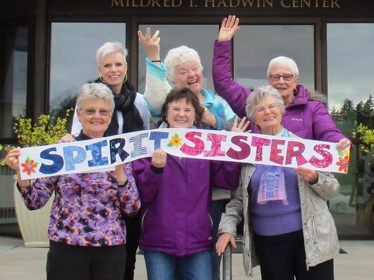 "The ""Spirit Sisters"" are (from left, front) Carol Stygles, Maki Braun, Edie Gilbert, (back row) Barb Markowski, Stephanie Kolman and Lynne Loftis."