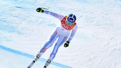 Lindsey Vonn (USA) competes in the women's downhill
