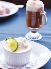The Key lime pie was actually a ramekin of smooth lime custard: a redefined classic.