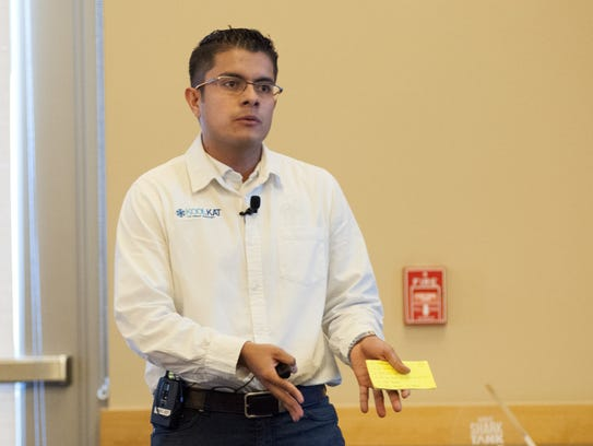 Startup contestant Carlos Murguia pitches KoolKat,