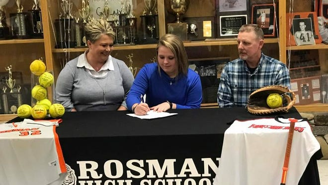 Rosman senior Marissa Henson has signed to play college softball for Spartanburg Methodist (S.C.).
