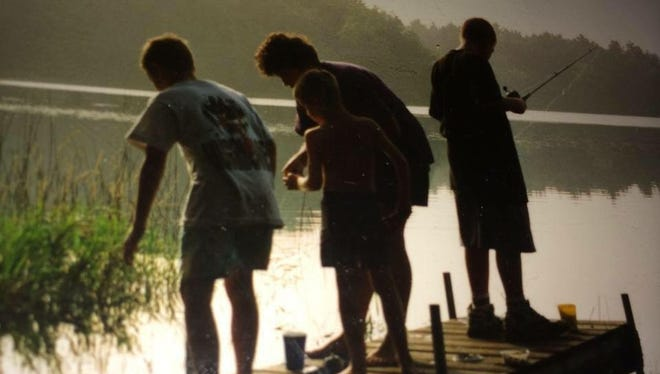 A few worms, fishing poles, a canoe and a tent was all that was needed on this family vacation.
