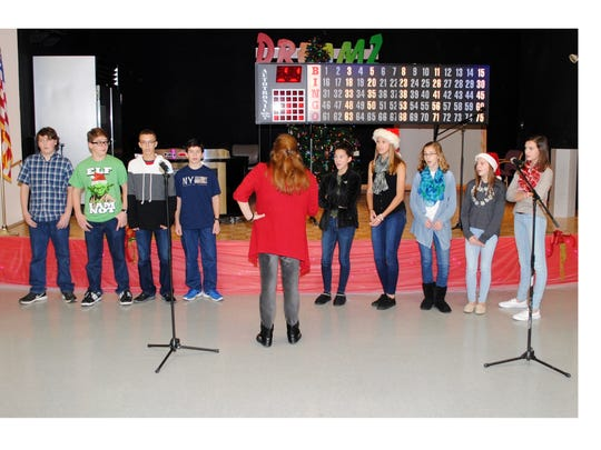 Members of Lakeside Middle School's chapter of the National Junior Honor Society entertained the veterans at the New Jersey Veterans Memorial Home in Vineland.
